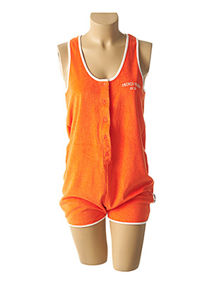 Combishort orange FRENCH TERRY 1818 pour femme
