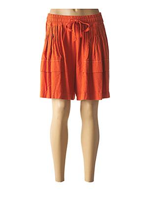 Short orange HIGH pour femme