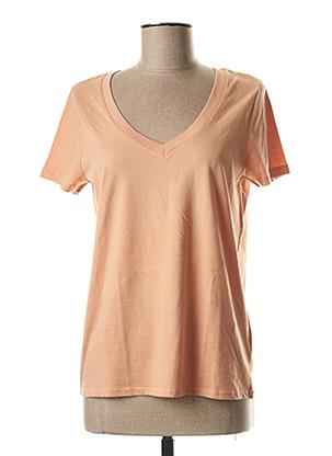 T-shirt manches courtes beige OUI pour femme