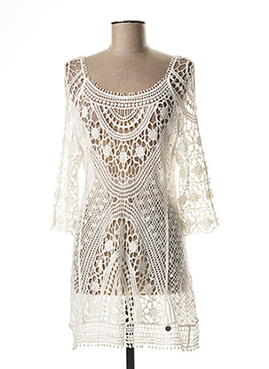 Robe courte blanc BANANA MOON pour femme