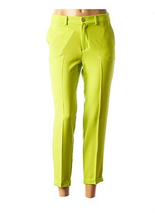 Pantalon 7/8 vert LCDN pour femme