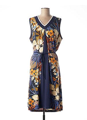 Robe mi-longue bleu CHRISTINE LAURE pour femme