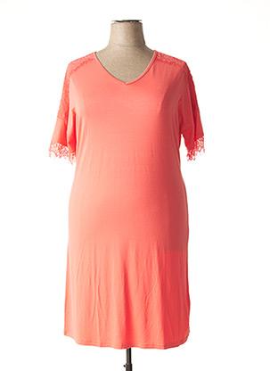 Chemise de nuit orange RINGELLA pour femme