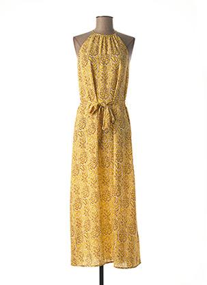 Robe mi-longue jaune ONLY pour femme