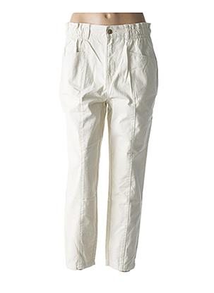 Pantalon 7/8 beige ONLY pour femme