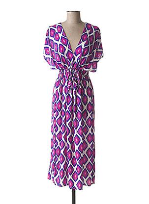 Robe mi-longue violet EMA BLUE'S pour femme
