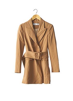Manteau long marron ZARA pour femme