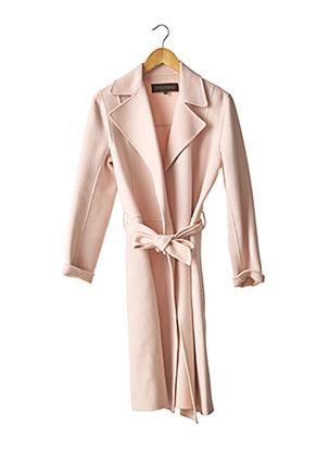 Manteau long rose APOSTROPHE pour femme