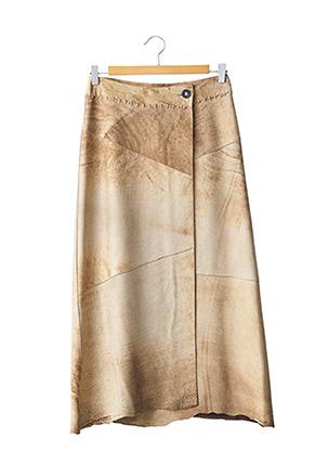 Jupe longue beige SYLVIE SCHIMMEL pour femme