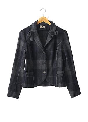Manteau court gris INDIES pour femme