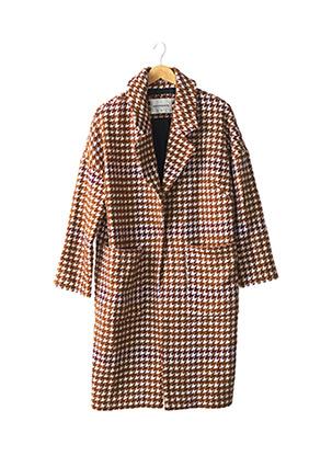 Manteau long marron ELEVEN PARIS pour femme