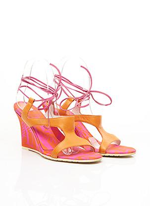 Sandales/Nu pieds orange ARMANI pour femme